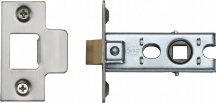 M Marcus York Security YKTL2-SN&SC Mortice Latch 64mm Satin Nickel/Chrome